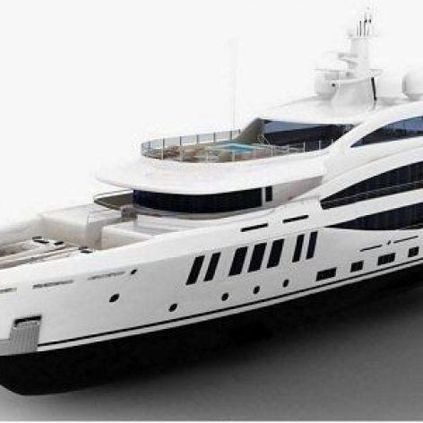 Amels 200 Yacht 3D Model (3ddanlod.ir)