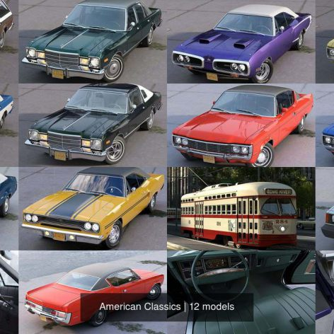 CGTrader – American Classics 3D Model Collection (3ddanlod.ir)