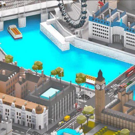 CGTrader – Low Poly London City-poly 3D model 007(3ddanlod.ir)