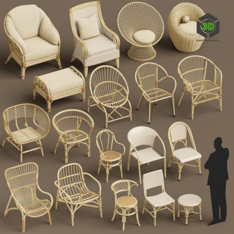 CGTrader – Wicker chair set A 3D models007(3ddanlod.ir)