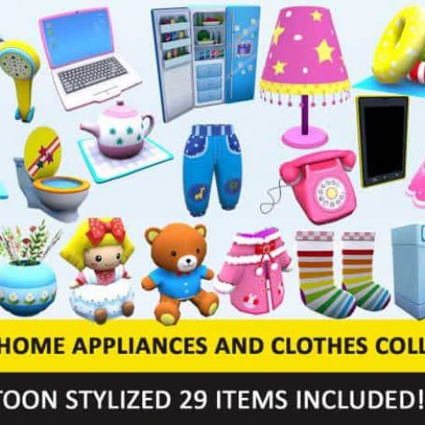 CGTrader-Toon-Household-Appliances-Animated-Low-Poly-Collection(3ddanlod.ir)