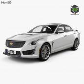 Cadillac ATSV 2016 3D Model(3ddanlod.ir)