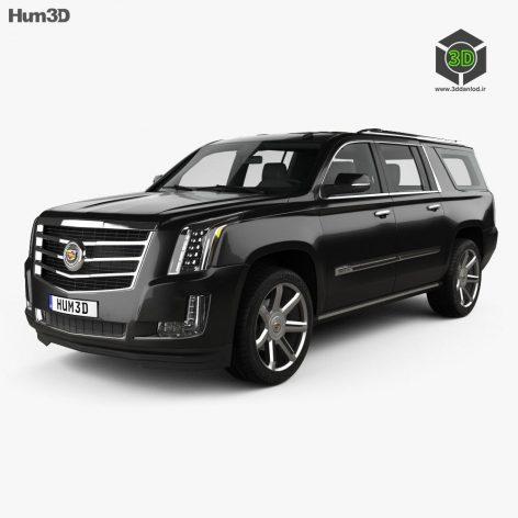 Cadillac Escalade ESV Platinum 2015 3D model(3ddanlod.ir)