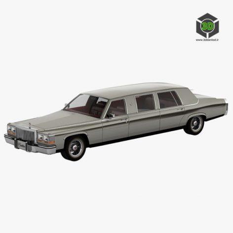Cadillac Fleetwood Limousine 1986 3D Model(3ddanlod.ir)