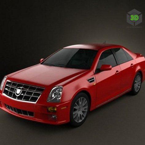Cadillac STS 2010 3D Model(3ddanlod.ir)