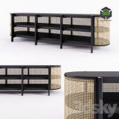 Cane Low Cabinet(3ddanlod.ir) 011