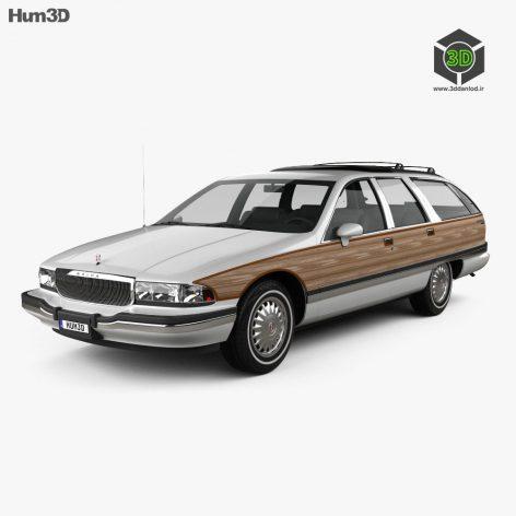 Car Buick Roadmaster wagon 1991 (max, fbx, obj)(3ddanlod.ir)