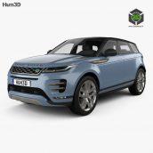 Car Land Rover Range Rover Evoque R-dynamic 2019 3D MODEL(3ddanlod.ir)