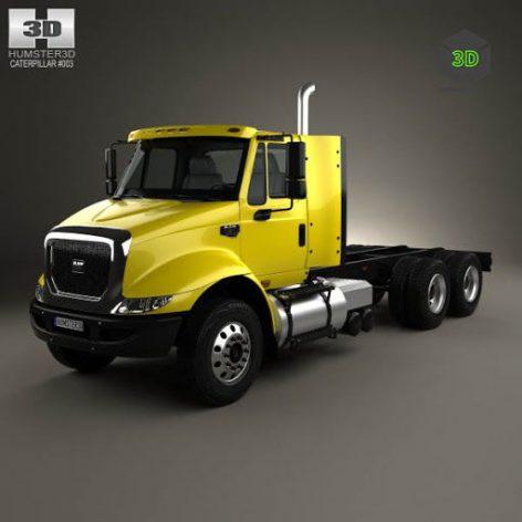 Caterpillar CT610 Chassis Truck 2011 - 3D Model(3ddanlod.ir)