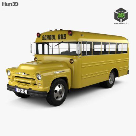 Chevrolet 4500 School Bus 1956 3D model(3ddanlod.ir)
