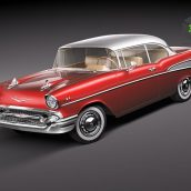 Chevrolet Bel Air 1957 3D Model(3ddanlod.ir)
