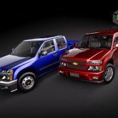 Chevrolet Colorado crew cab 3D Model(3ddanlod.ir)