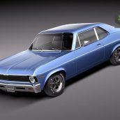 Chevrolet Nova 1969 3d Model 1(3ddanlod.ir)