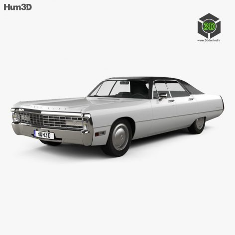 Chrysler Imperial LeBaron 4-door Hardtop 1971 3D model(3ddanlod.ir)