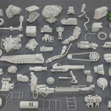 Cubebrush - Kit bash(57 pieces) 001(3ddanlod.ir)
