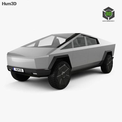 Cybertruck Tesla 3D Model(3ddanlod.ir)