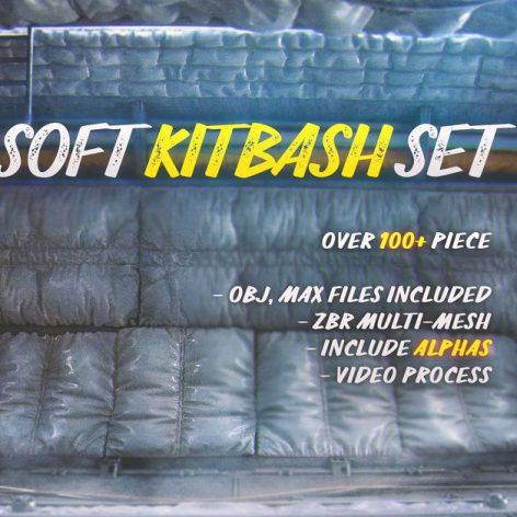 Gumroad - Soft Kitbash Set 001 cover (3ddanlod.ir)