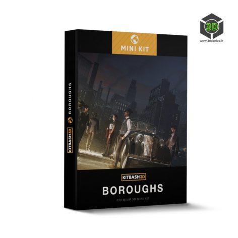 Kitbash3D – Mini Kit Boroughs 006 cover (3ddanlod.ir)