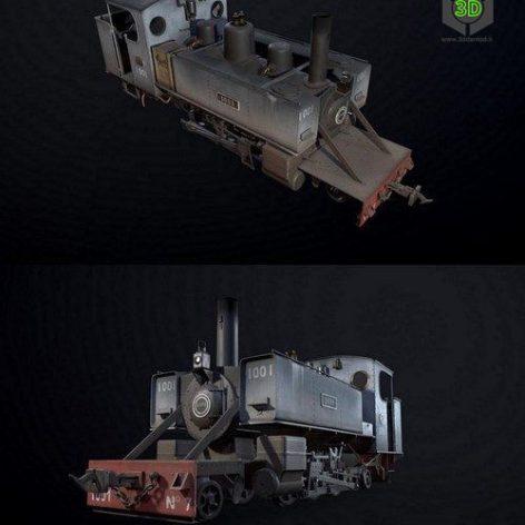 WWI Trench Locomotive – 3D Model (3ddanlod.ir)