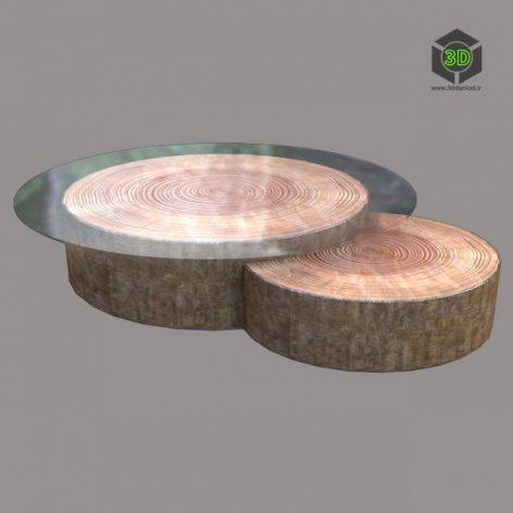 Wooden Round Table 204 (3ddanlod.ir)