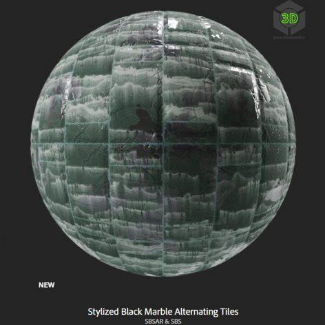 stylized_black_marble_alternating_tiles (3ddanlod.ir)