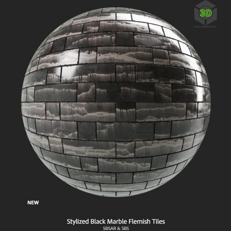 stylized_black_marble_flemish_tiles (3ddanlod.ir)