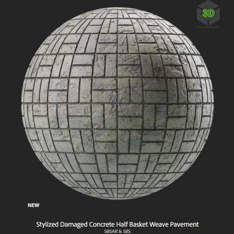 stylized_damaged_concrete_half_basket_weave_pavement (3ddanlod.ir)