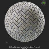 stylized_damaged_concrete_herringbone_pavement (3ddanlod.ir)