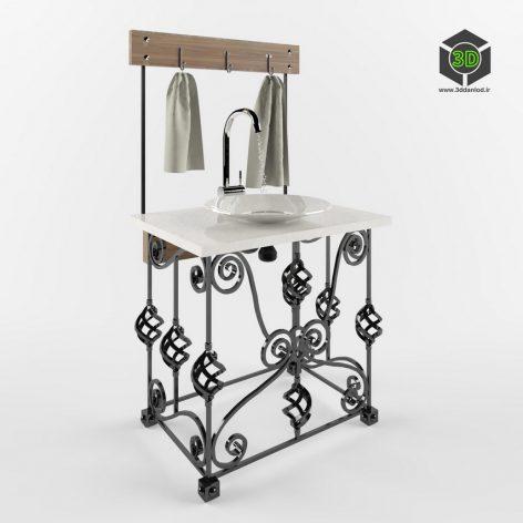 wrought iron washstand 067 (3ddanlod.ir)