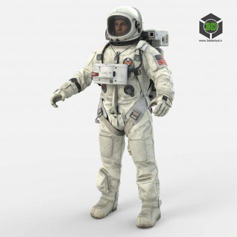 Astronaut #3 3D Model (3ddanlod.ir)