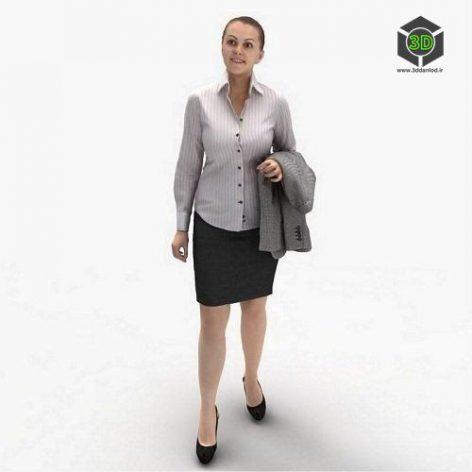 Business Woman 3d model (3ddanlod.ir)