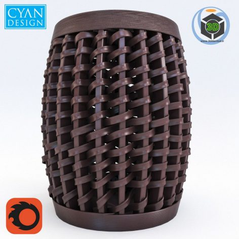 Cyan Design Woven Sienna Stool(3ddanlod.ir) 1636