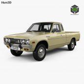 Datsun 620 KingCab 1977 3D Model (2)(3ddanlod.ir)