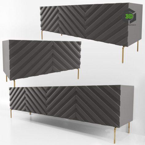 Decorative Chevron Console Anthrazit(3ddanlod.ir) 843