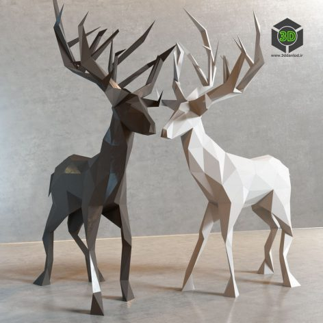Deer Decor(3ddanlod.ir) 013