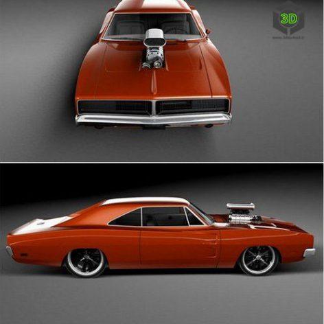 Dodge Charger 1969 Custom(3ddanlod.ir)