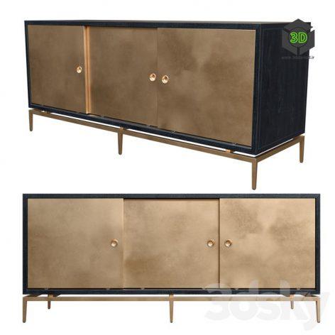Dresser With Metal Siding Doors(3ddanlod.ir) 730