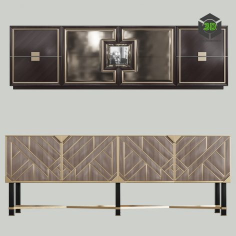 Dressers in the Style of Art Deco 01(3ddanlod.ir) 1846