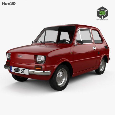 Fiat 126 with HQ interior 1976 3D Model (3)(3ddanlod.ir)