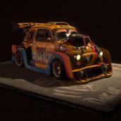 Fiat 500 - Dakar Raid(3ddanlod.ir)