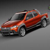 Fiat Strada Adventure 2013 3D Model (2)(3ddanlod.ir)
