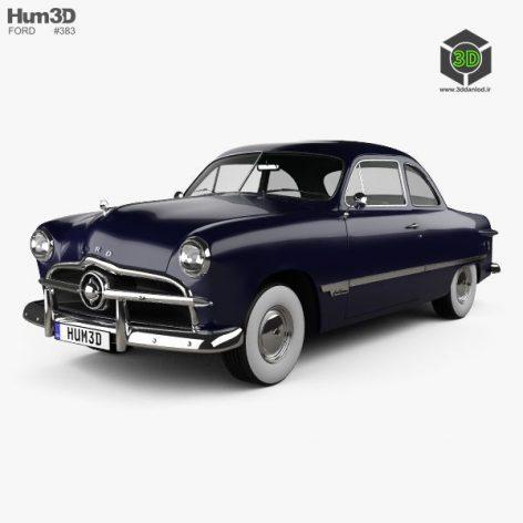 Ford Custom Club Coupe 1949 3d model(3ddanlod.ir)
