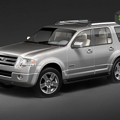 Ford Expedition 2007 3D Model(3ddanlod.ir)
