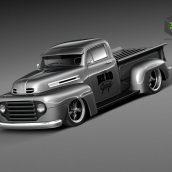Ford F1 Pickup Truck Hot Rod 1950 3D Model(3ddanlod.ir)