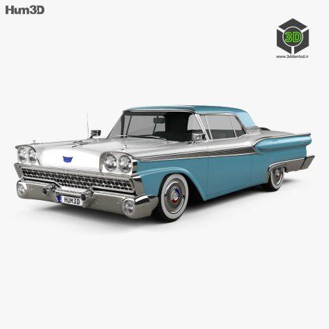 Ford Fairlane 500 Galaxie Skyliner 1959 3D model (2)(3ddanlod.ir)