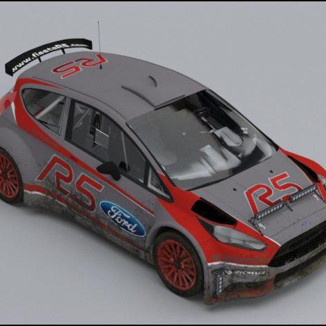 Ford Fiesta R5 Race – 3D Model(3ddanlod.ir)