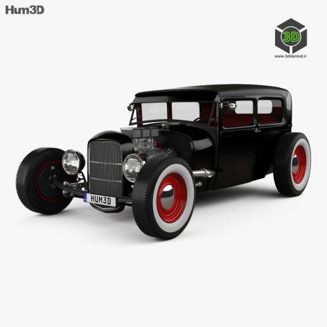 Ford Model A Hot Rod 2016 3D model (2)(3ddanlod.ir)
