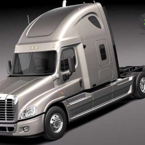 Freightliner Cascadia 2011 3D Model(3ddanlod.ir)