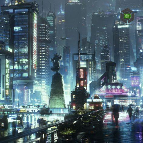 Kitbash3D – Neo Shanghai 001 cover (3ddanlod.ir)