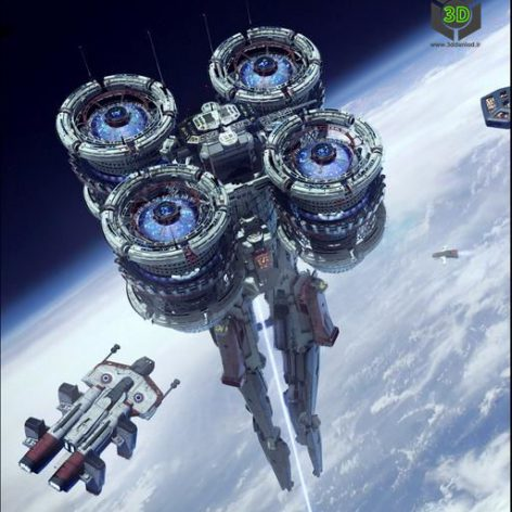Kitbash3D – Veh Spaceships 010 cover (3ddanlod.ir)